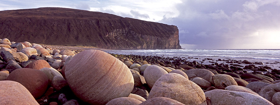 Cobbles at Rackwick Bay, Hoy, Orkney Islands