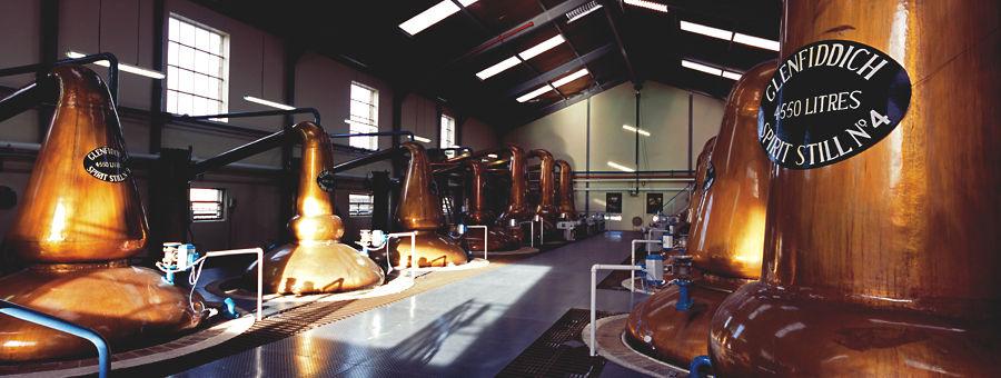 Stills, Glenfiddich Distillery, Speyside
