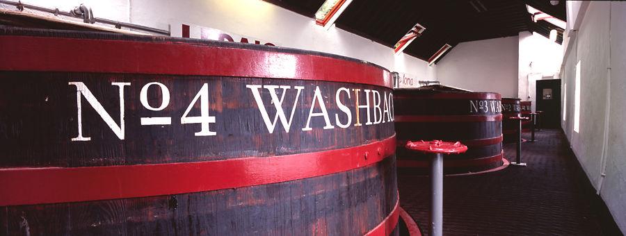 Washbacks at Tobermory Distillery, Isle of Mull