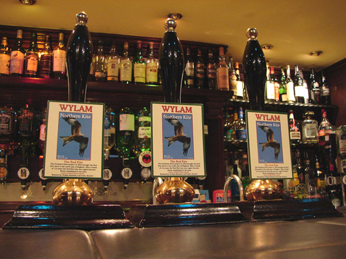 Pump Clips In A Bar In The North East.