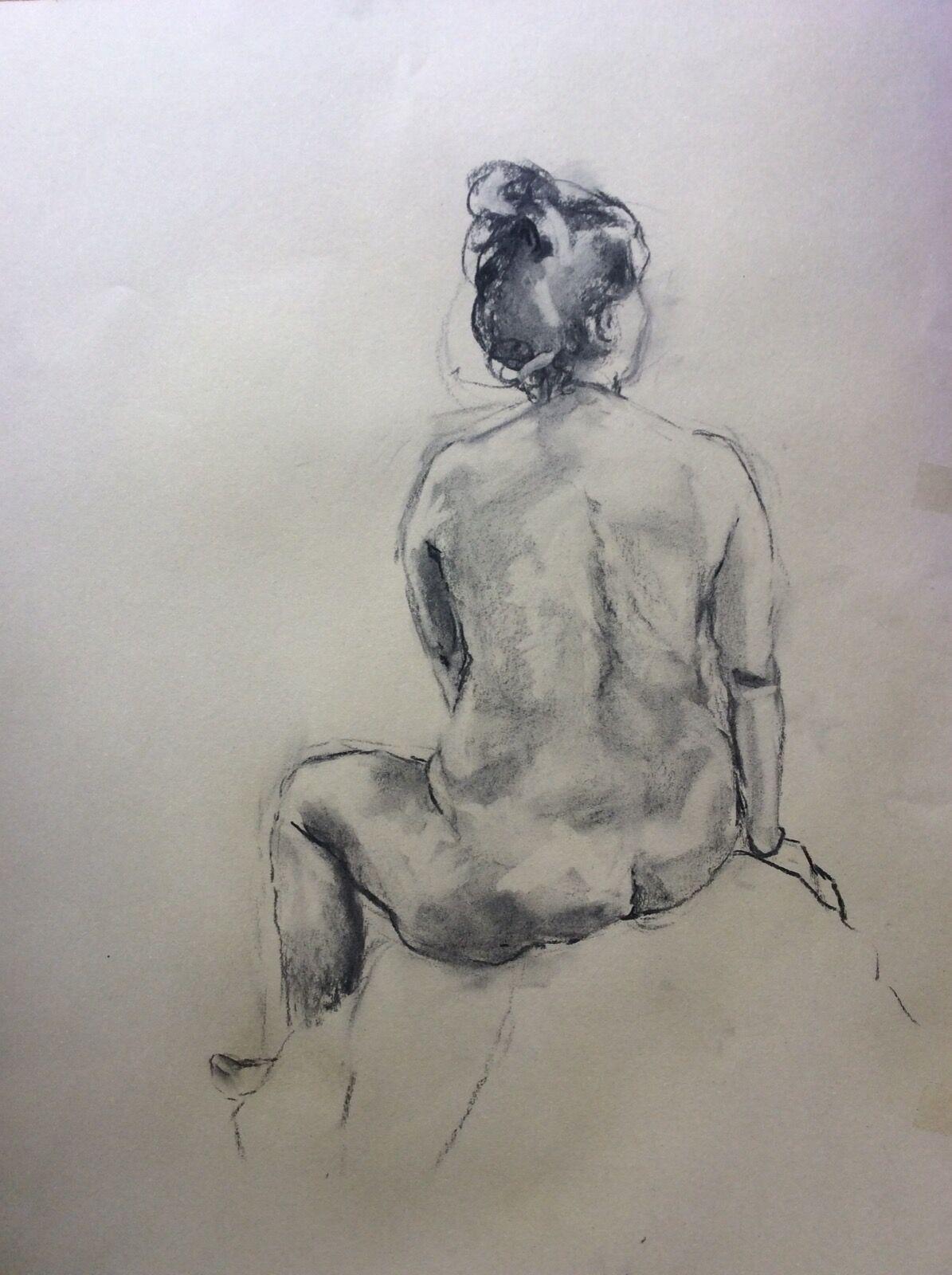 Female Figure Back View