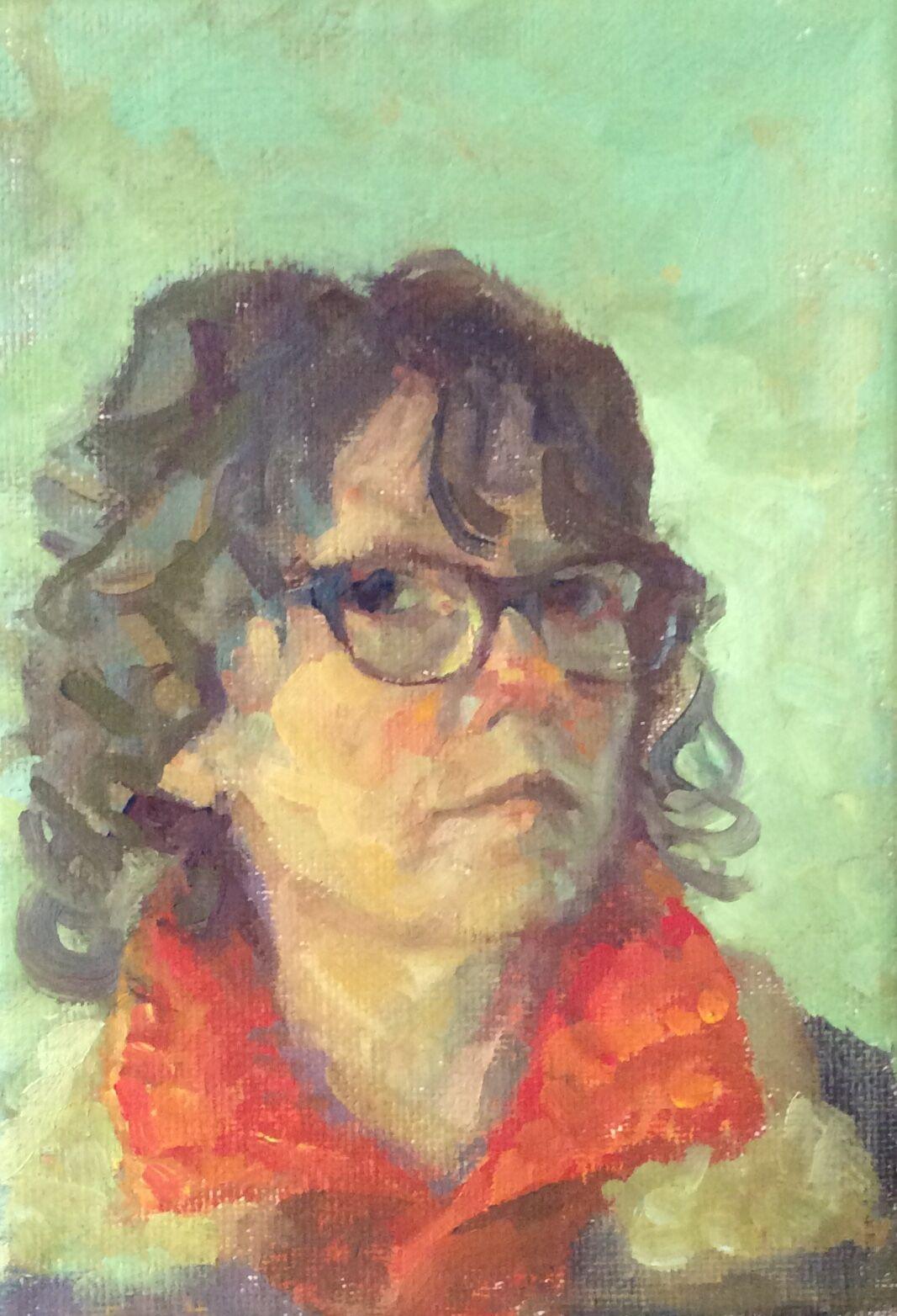 Self Portrait Orange Collar