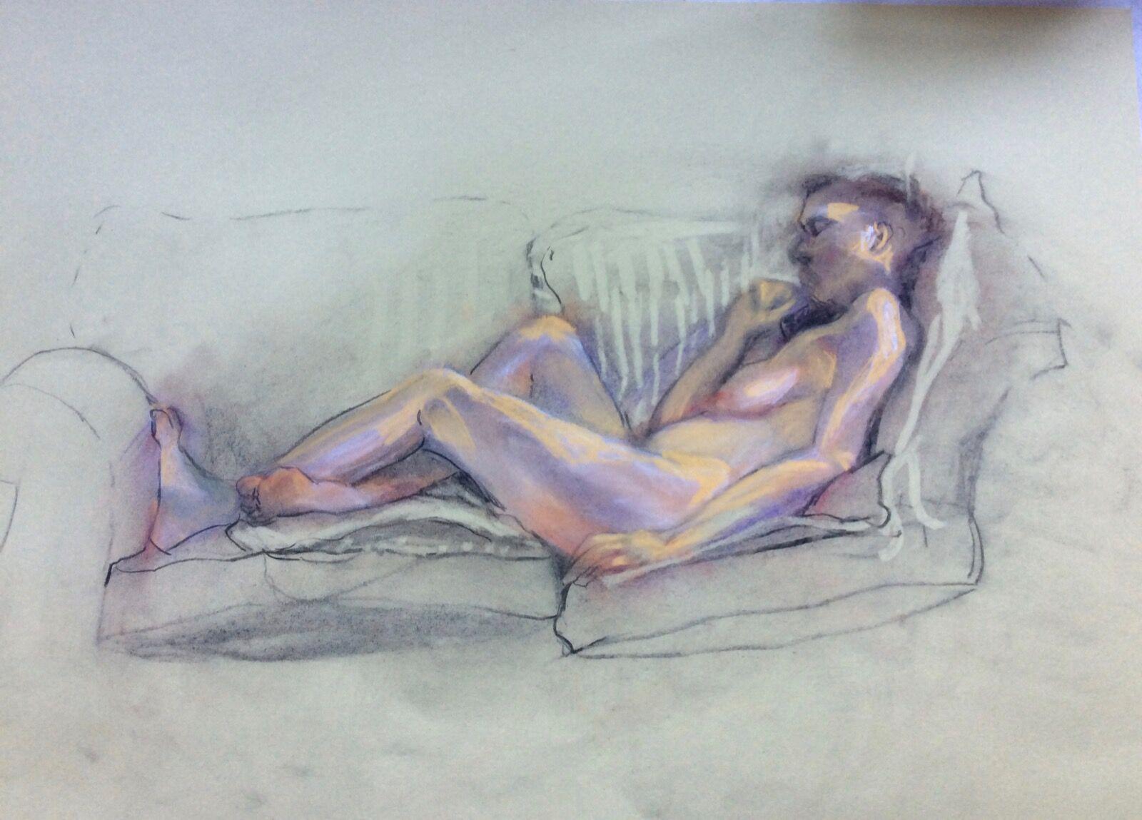 Female Figure on Sofa