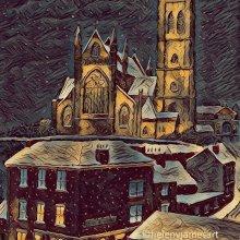 'BOLTON PARISH CHURCH &WHARF, UK'