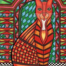 'PATCHWORK KITTY CAT - RUBY'