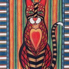 'PATCHWORK KITTY CAT TIGGER' - SOLD