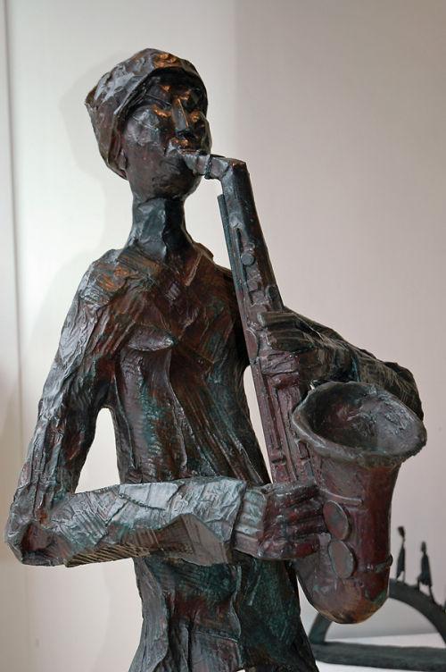 """""""Jazz Man"""" (detail)"""