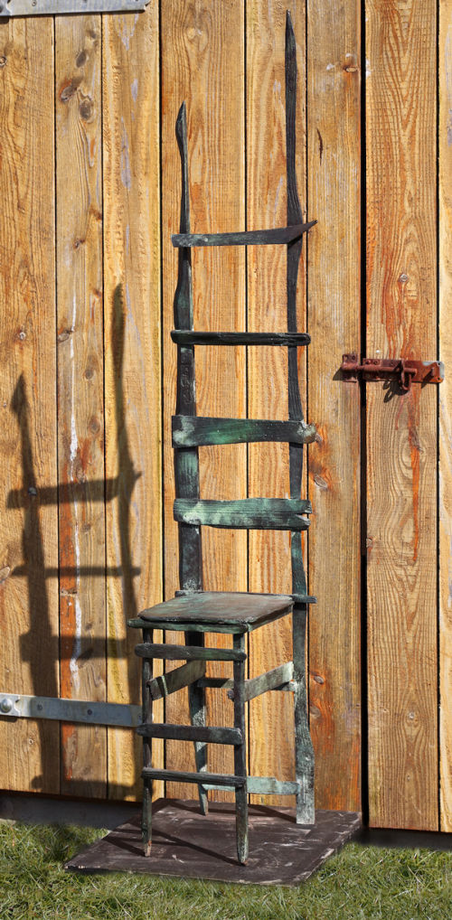 Ladder-backed Bronze Chair
