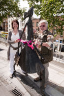 Bill Oddie and Helen 'unveiling' Doo Wah Diddy at the Royal Free Hospital  -  May 2011