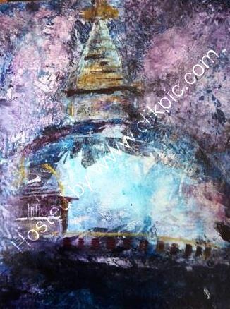 Acrylic Stupa in Thamel