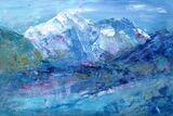Annapurna from Thorung La  - Acrylic