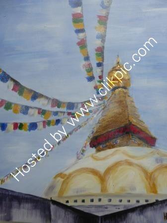 Bodhnath Stupa Kathmandu - Acrylic