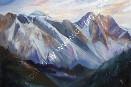 Everest Sunset - Oil