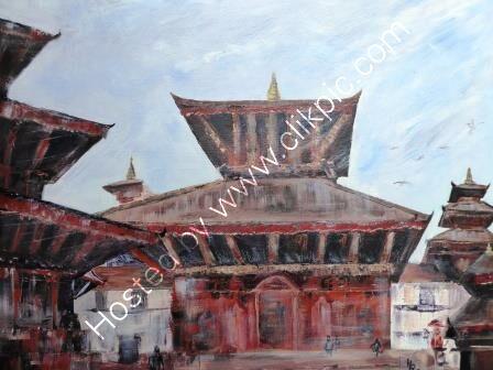 Kathmandu  Durbar Square -Jagganath Temple, Hanuman Dhoka - acrylic