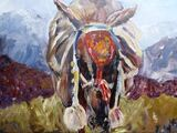 Mountain Mule with decorative bridle - acrylic