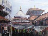 Patan Durbar Square Bead Market - acrylic