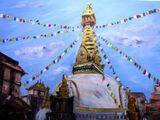 Shree Ghah Stupa, Thamel, Kathmandu - Acrylic