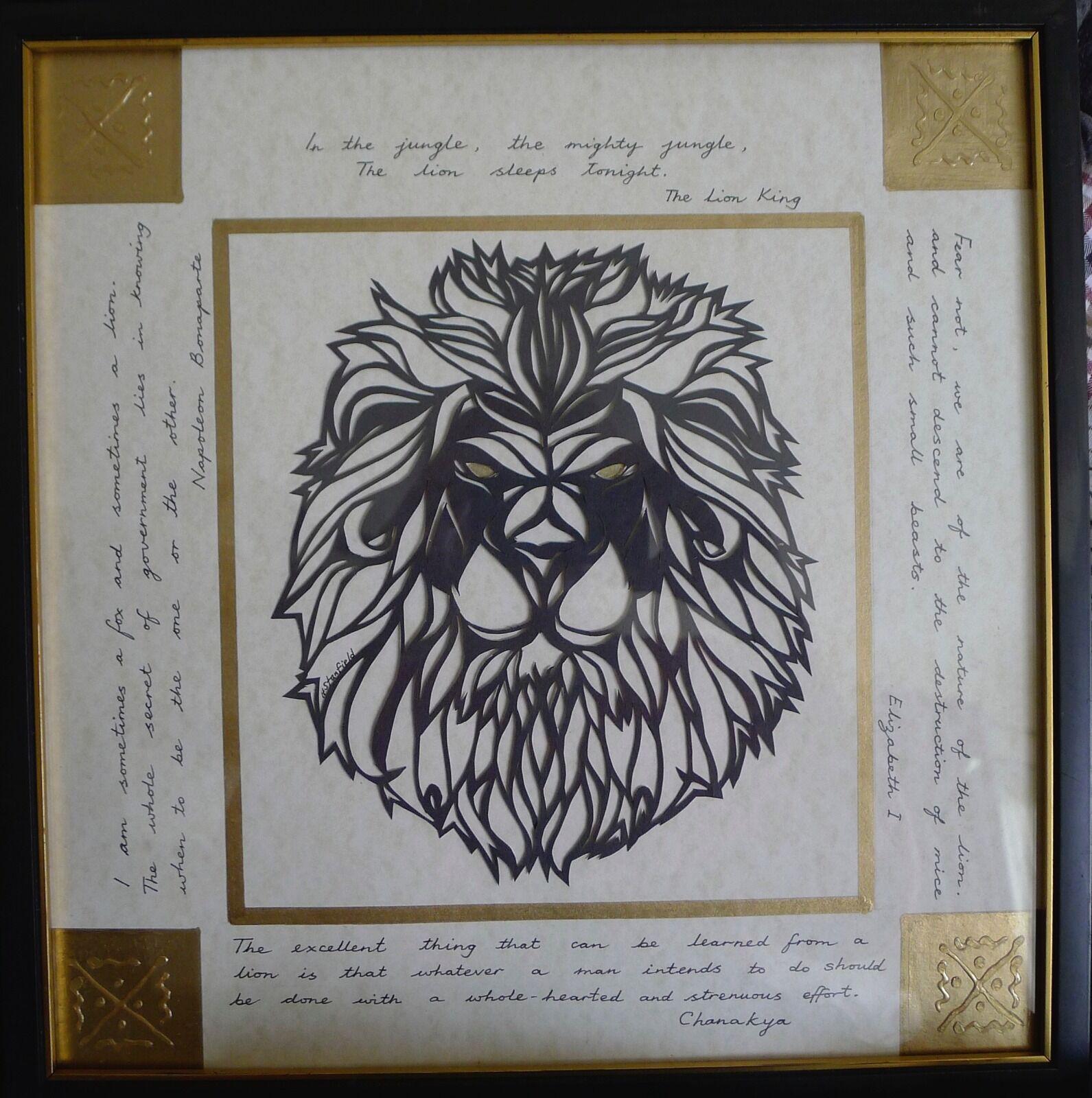 Leo papercut