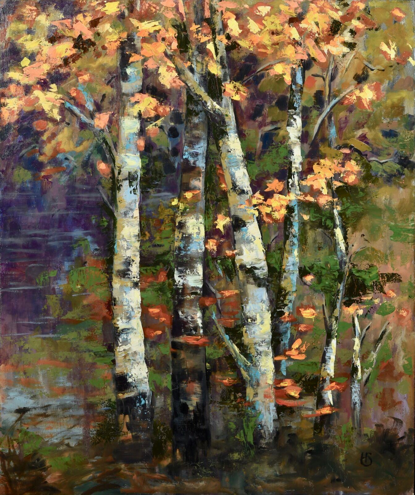 'Autumn Breeze', an original oil painting