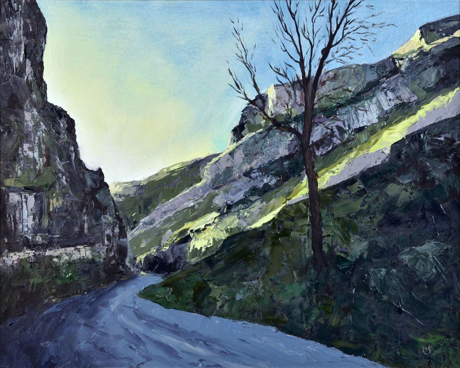 'Cheddar Gorge' 44cm x 54cm oil on board framed £225
