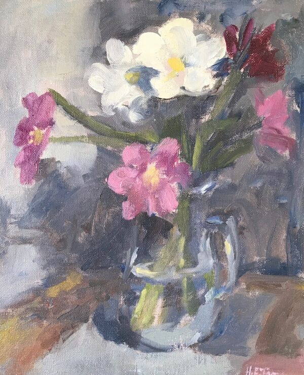 A Jug of Open Tulips