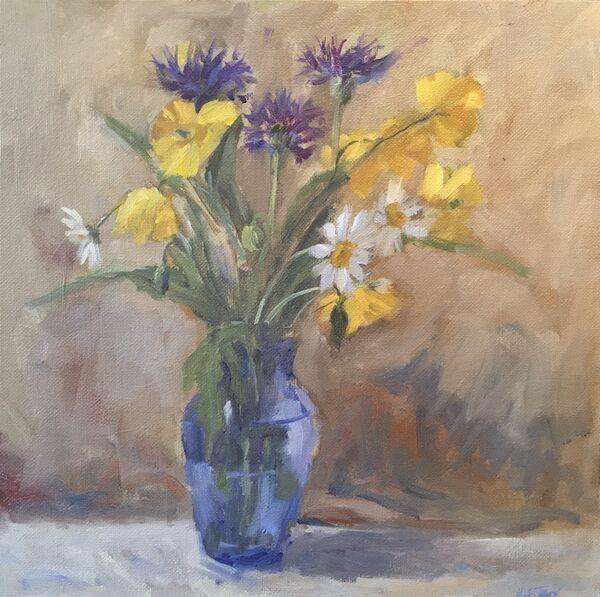 Cornflowers, Poppies and Daisies