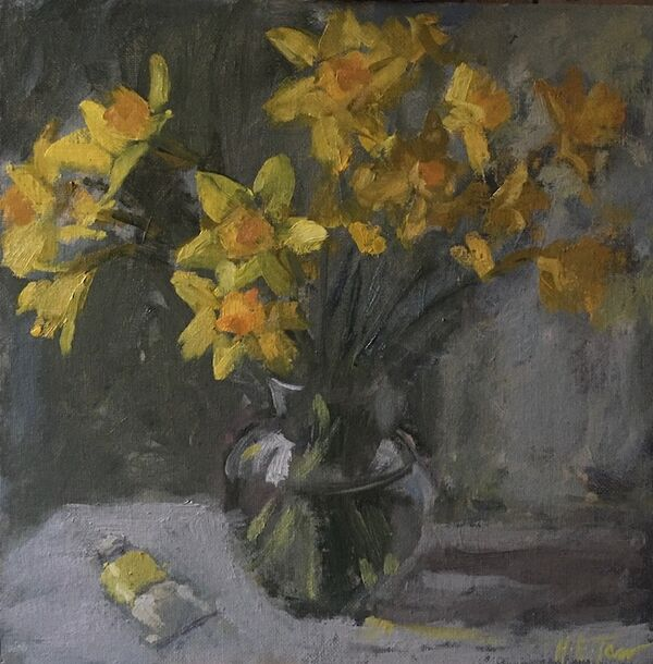 Daffodils with Bright Yellow Lake
