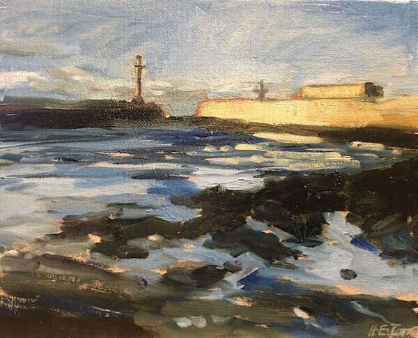 Evening Light on Whitby Harbour