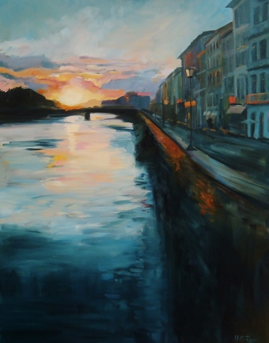 Evening on the Arno