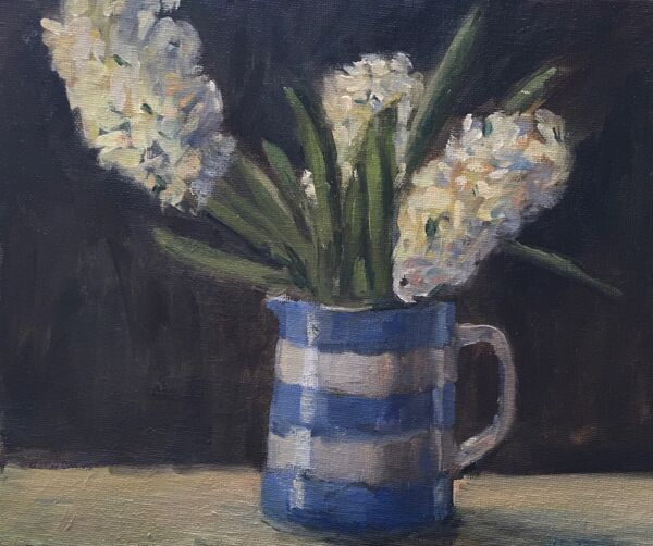 Hyacinths in a Cornish Jug
