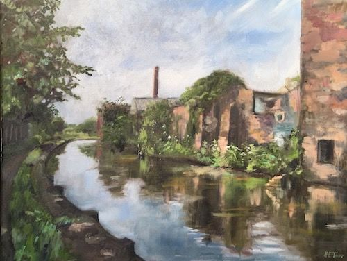 Sunlight on the Canal at Middleport