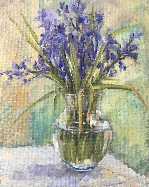 A Vase of Bluebells