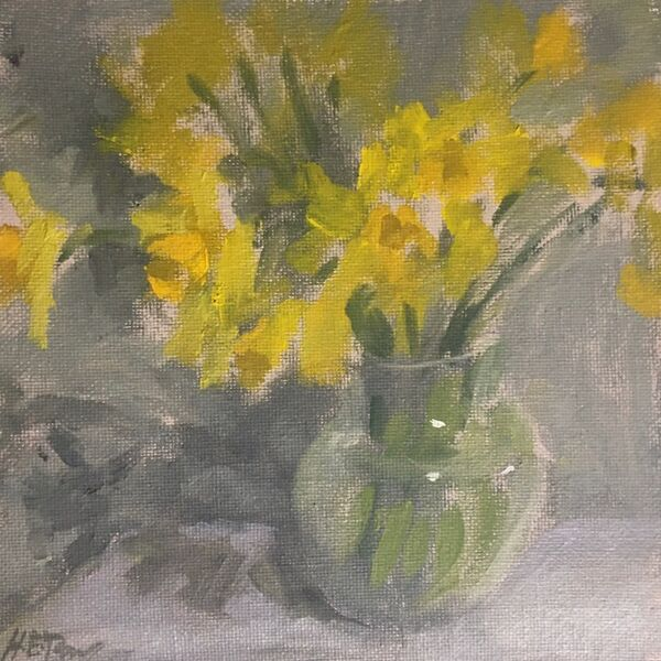 Small Study of Daffodils and Shadows
