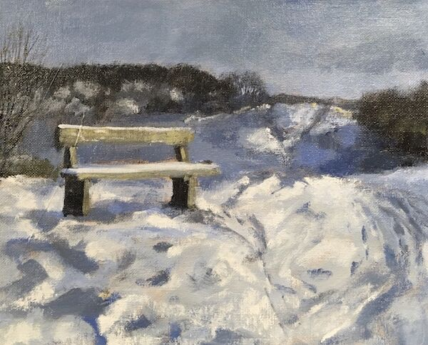 Snowy Bench on East Hill