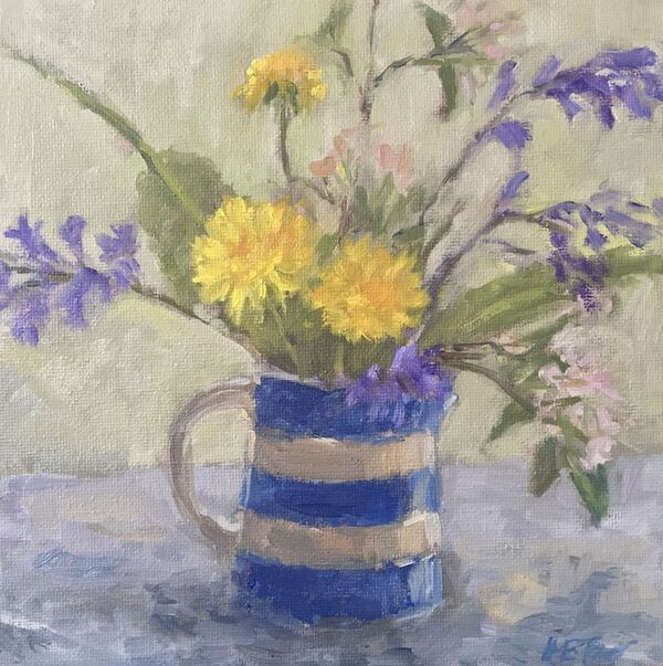 Spring Blooms in a Cornish Jug