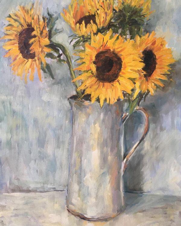 Sunflowers and Jug