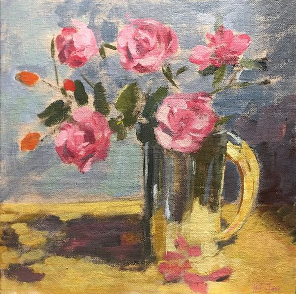 The Last Roses in a Silver Tankard