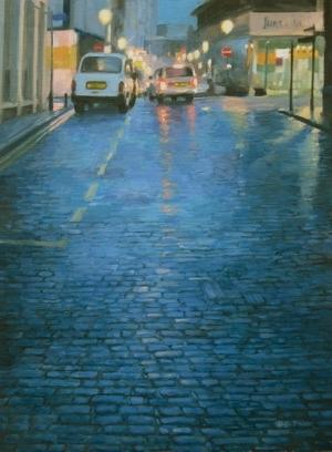 Cobbles in Blue, Oozells Street.