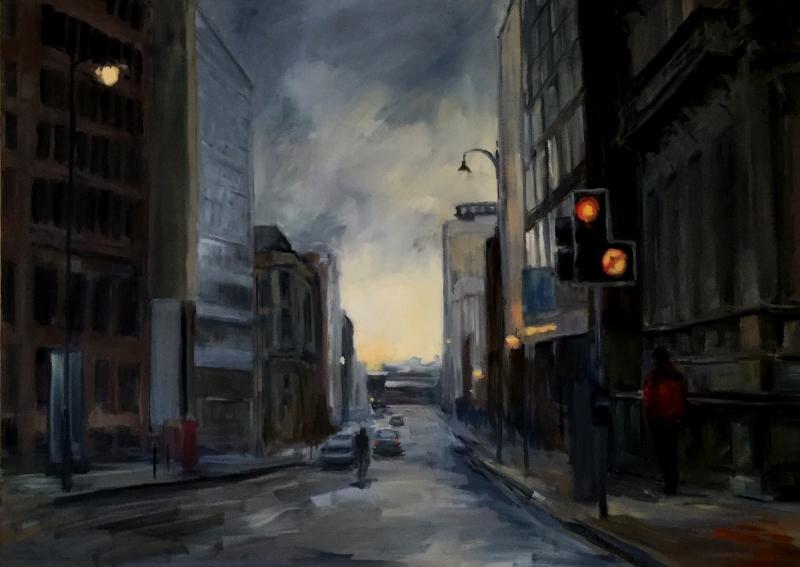 Evening Light on Newhall Street, Birmingham