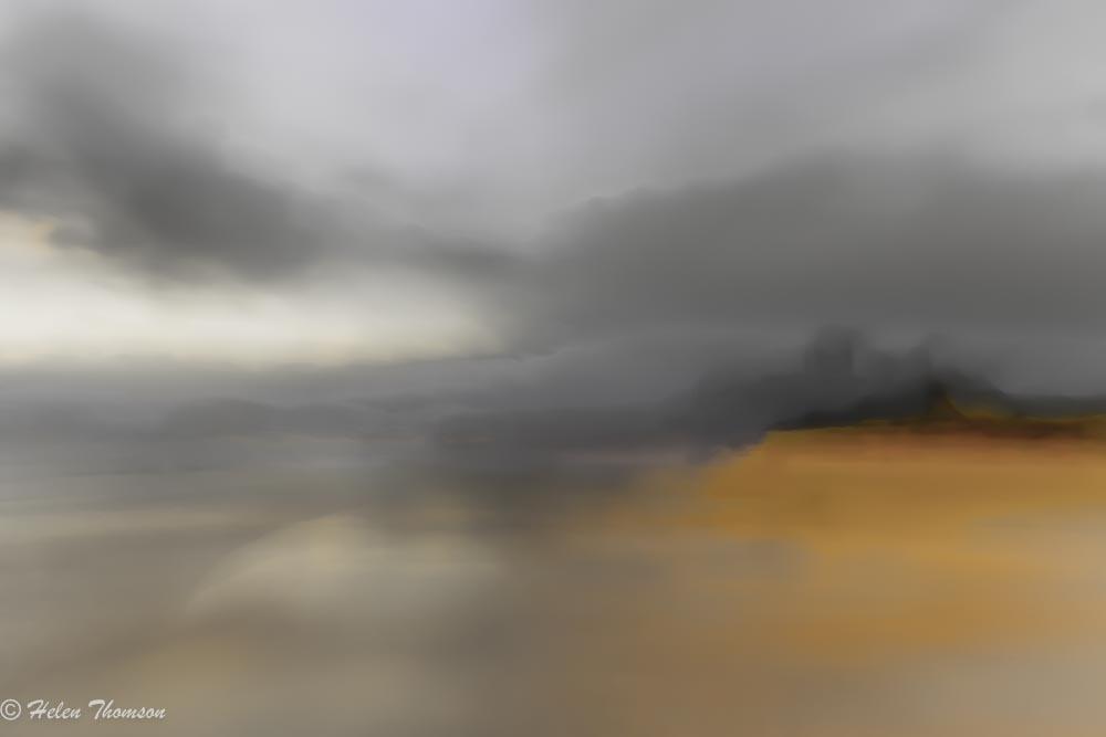 05949-e Bamburgh Shoreline Sunset