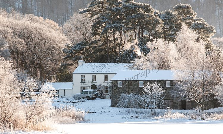 Stable Hill Farm in Snow