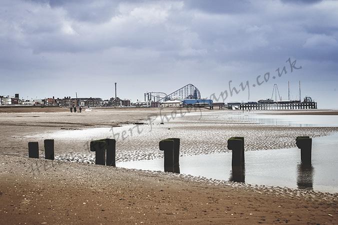 Towards Please Beach, Blackpool