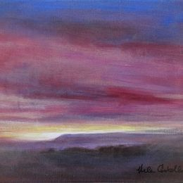 463_Dawn_over_North_York_Moors_12x10in_Oil