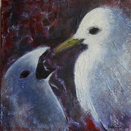 482_Kittiwake_feeding_chick_12x12in_Acrylic