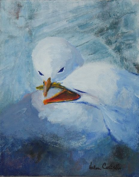 SOLD_452_Kittiwakes_defending_territory_10x8in_Acrylic
