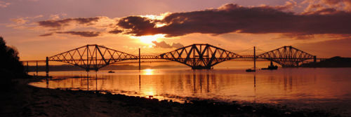 The Forth Bridges in the Evening sun