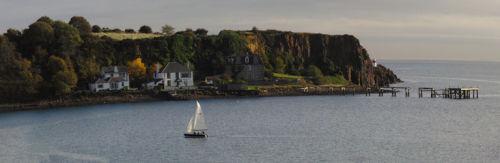 Sailing in Aberdour Bay