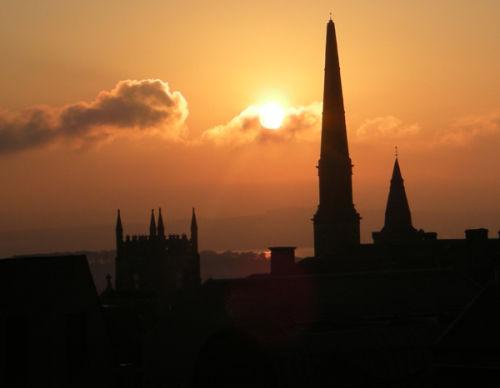 Old Dunfermline Skyline at Sunset