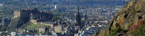 Edinburgh Castle from Arthurs Seat
