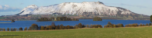Across Loch Leven to the Lomond Hills
